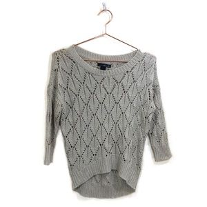 Women's Willi Smith Shimmering Lace Knit Sweater